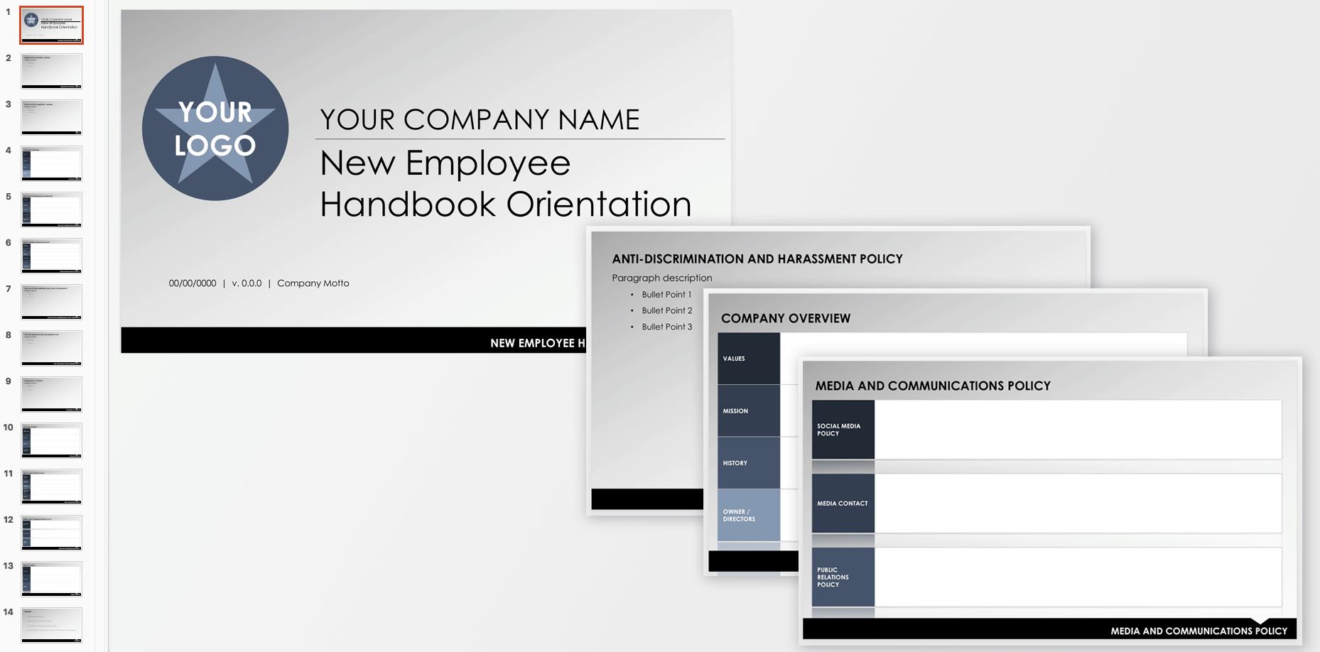Employee Handbook Orientation Template