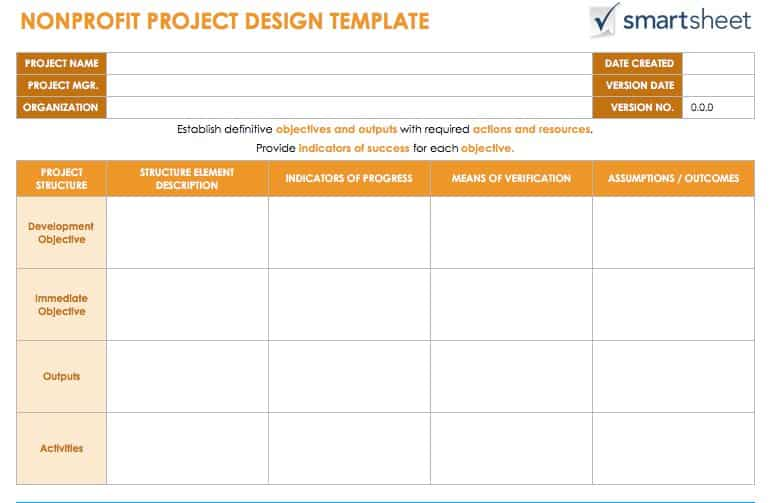 The Nonprofit Project Design Template