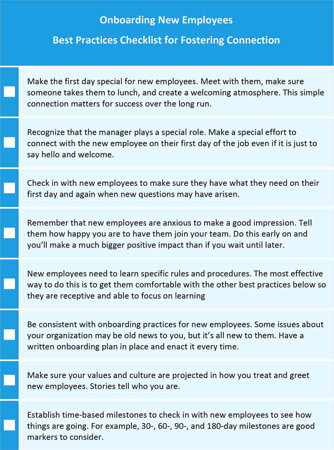 Onboarding New Employees Best Practices Checklist