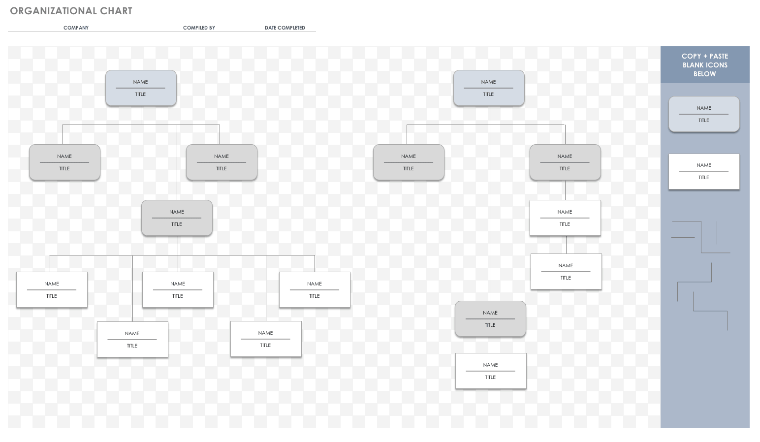 Free Org Chart Templates For Excel Smartsheet