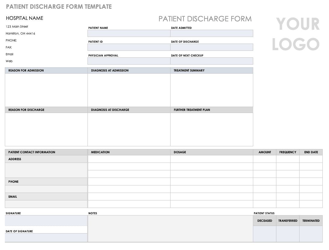 Free Medical Form Templates  Smartsheet With Medical History Template Word