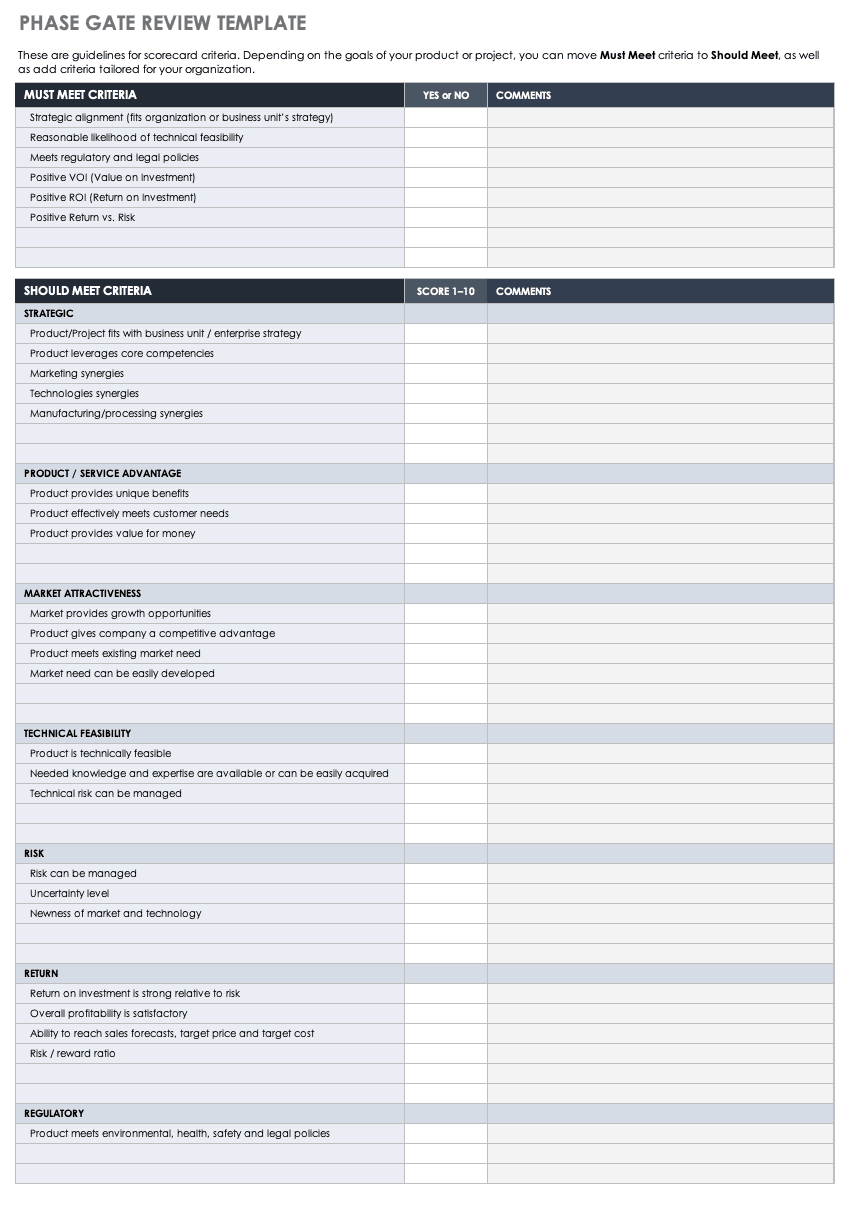 Phase Gate Review Template