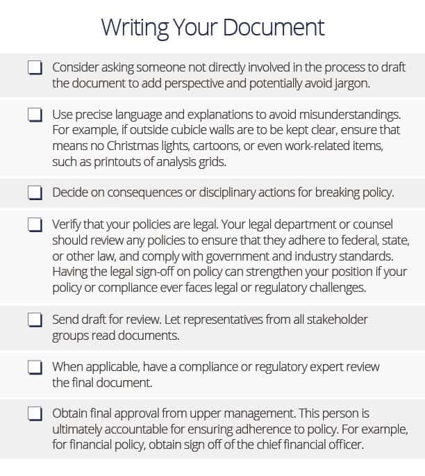 How To Write Policies And Procedures Smartsheet