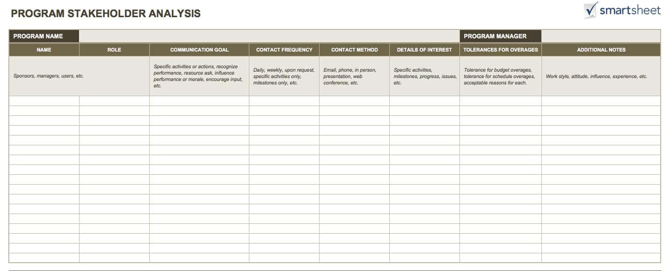 14 Free Program Management Templates | Smartsheet