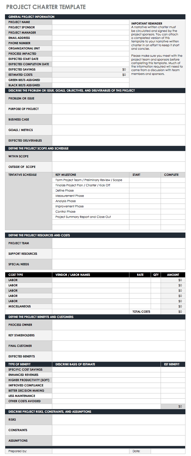 free statement of work templates smartsheet