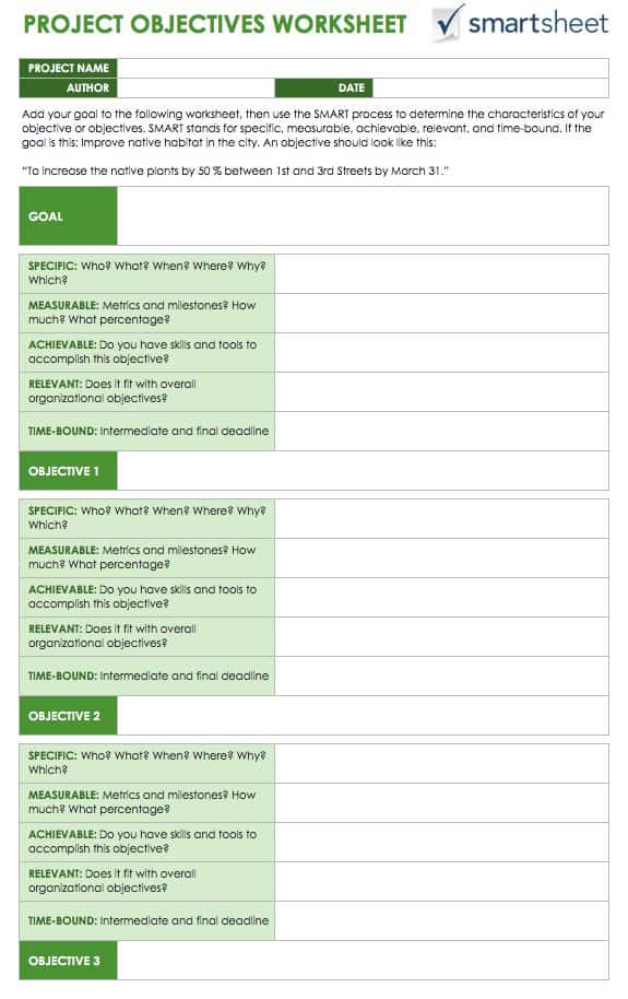 Project Management Worksheet 001 - Project Management Worksheet