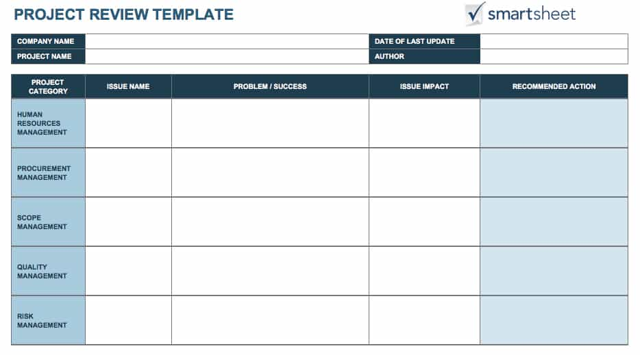 Download Project Review Template For Excel Design Review Process