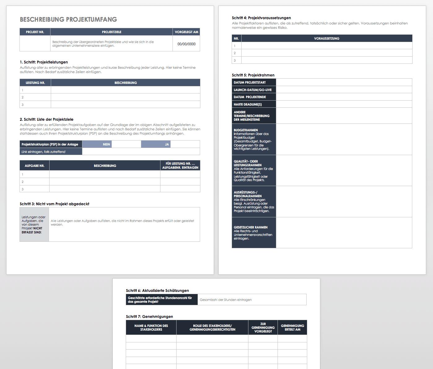 Kostenlose Vorlagen Für Leistungsbeschreibung Zum Herunterladen