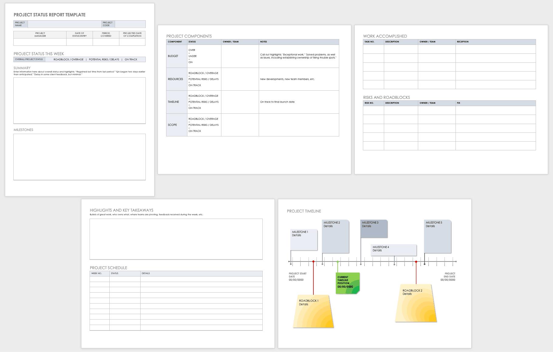 Free Project Status Templates   Smartsheet