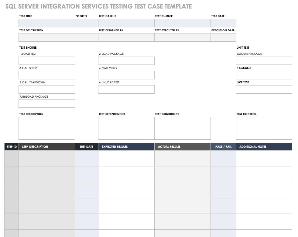 Free Test Case Templates | Smartsheet