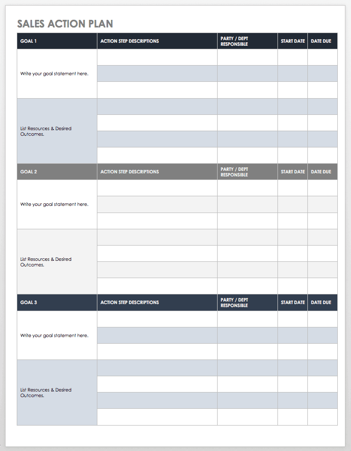 S Action Plan Template