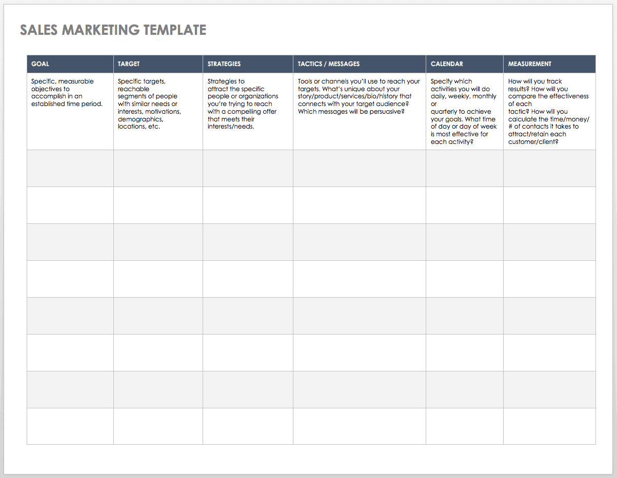 Sales Marketing Template