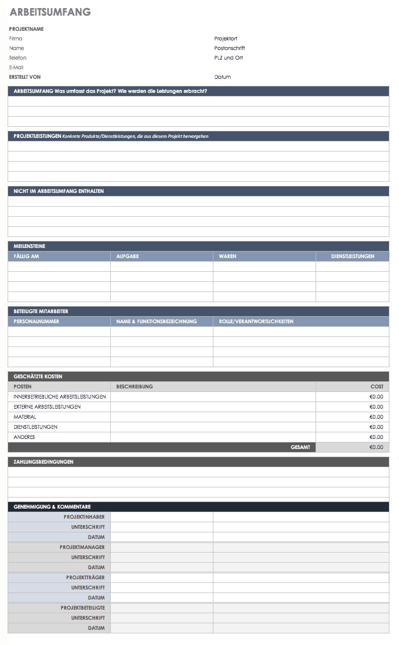 Kostenlose Vorlagen für Leistungsbeschreibung zum Herunterladen ...