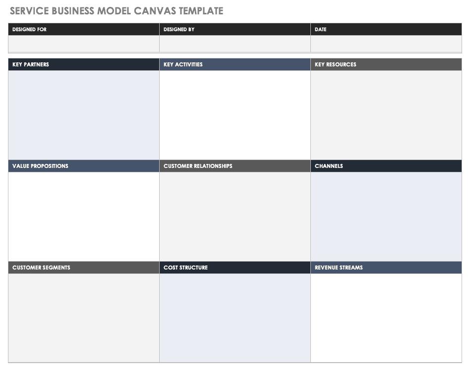 Service Business Model Template