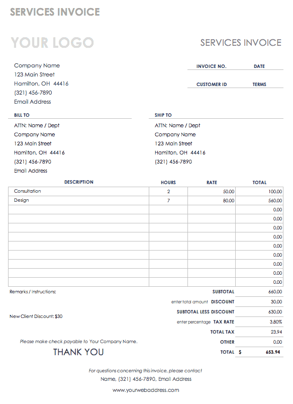 Word Invoice Template 2010 from www.smartsheet.com