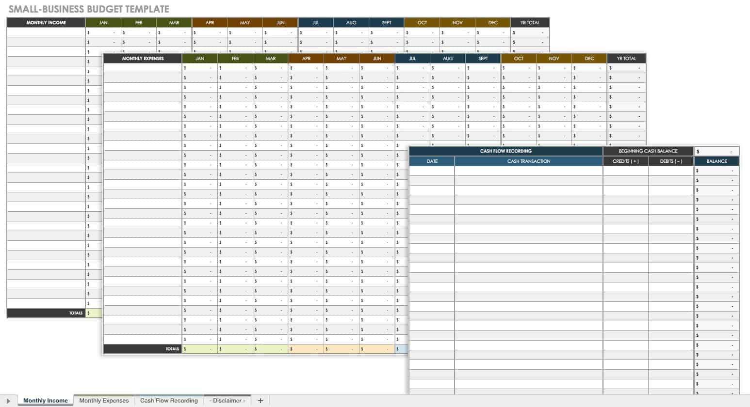 small business excel spreadsheet