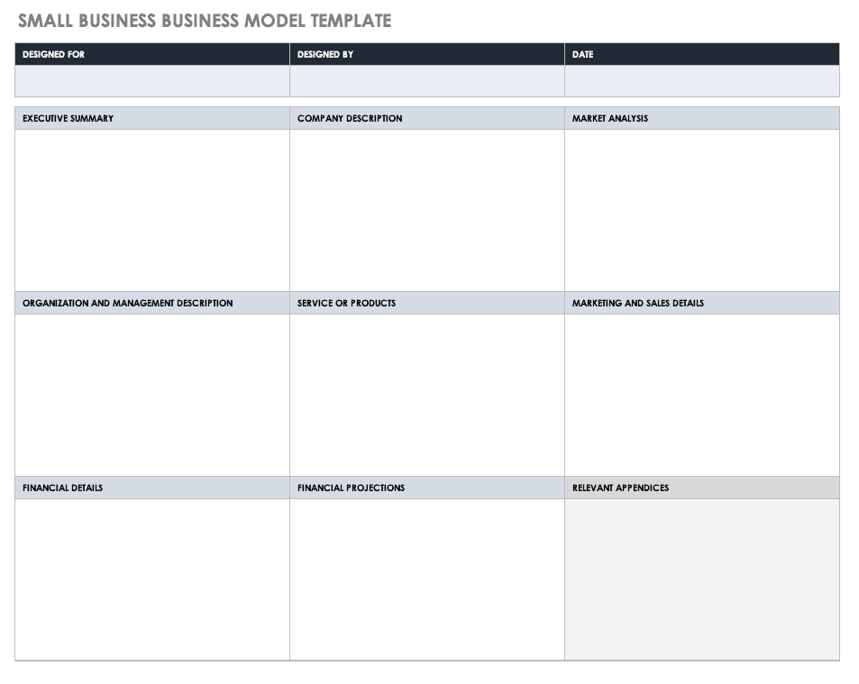 Small Business Business Model Template