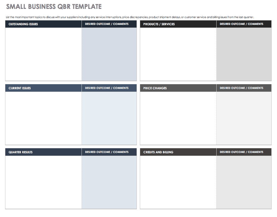 Small Business QBR Template