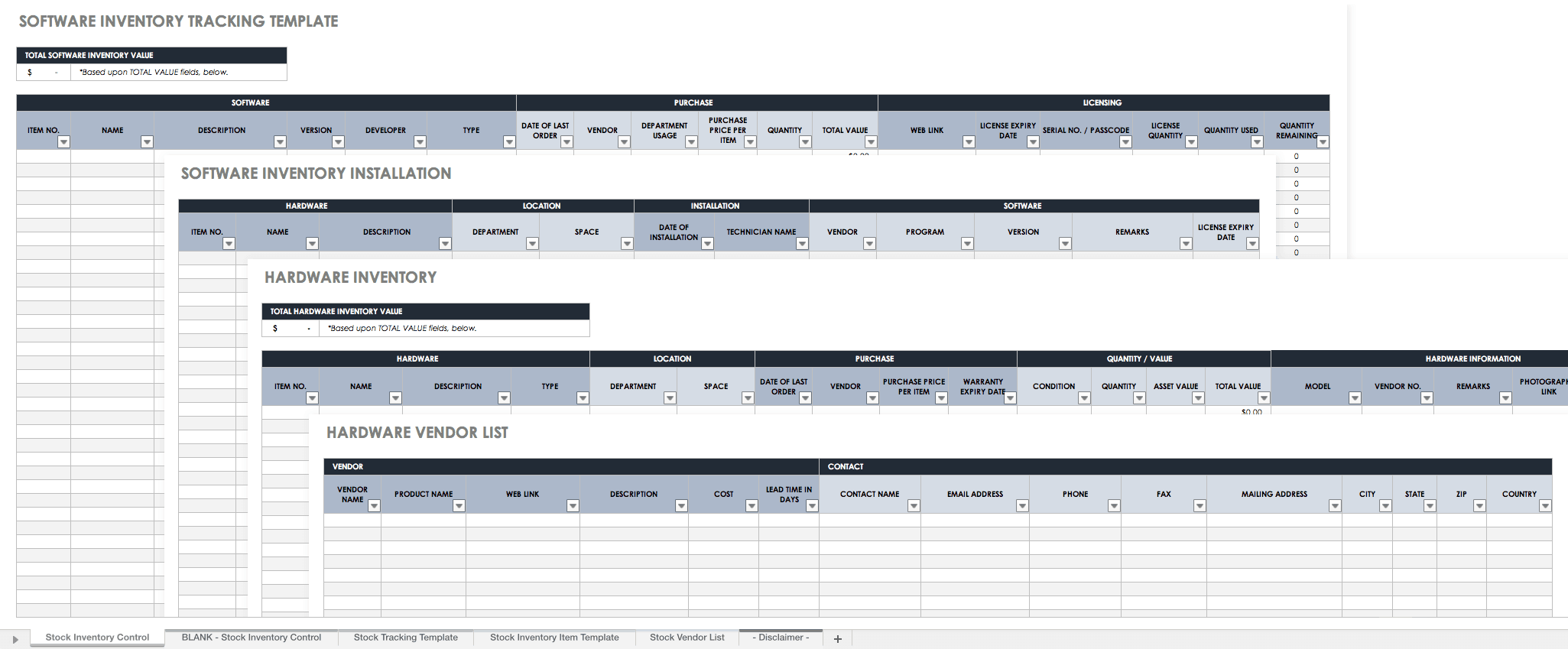 Free Excel Inventory Templates: Create & Manage | Smartsheet