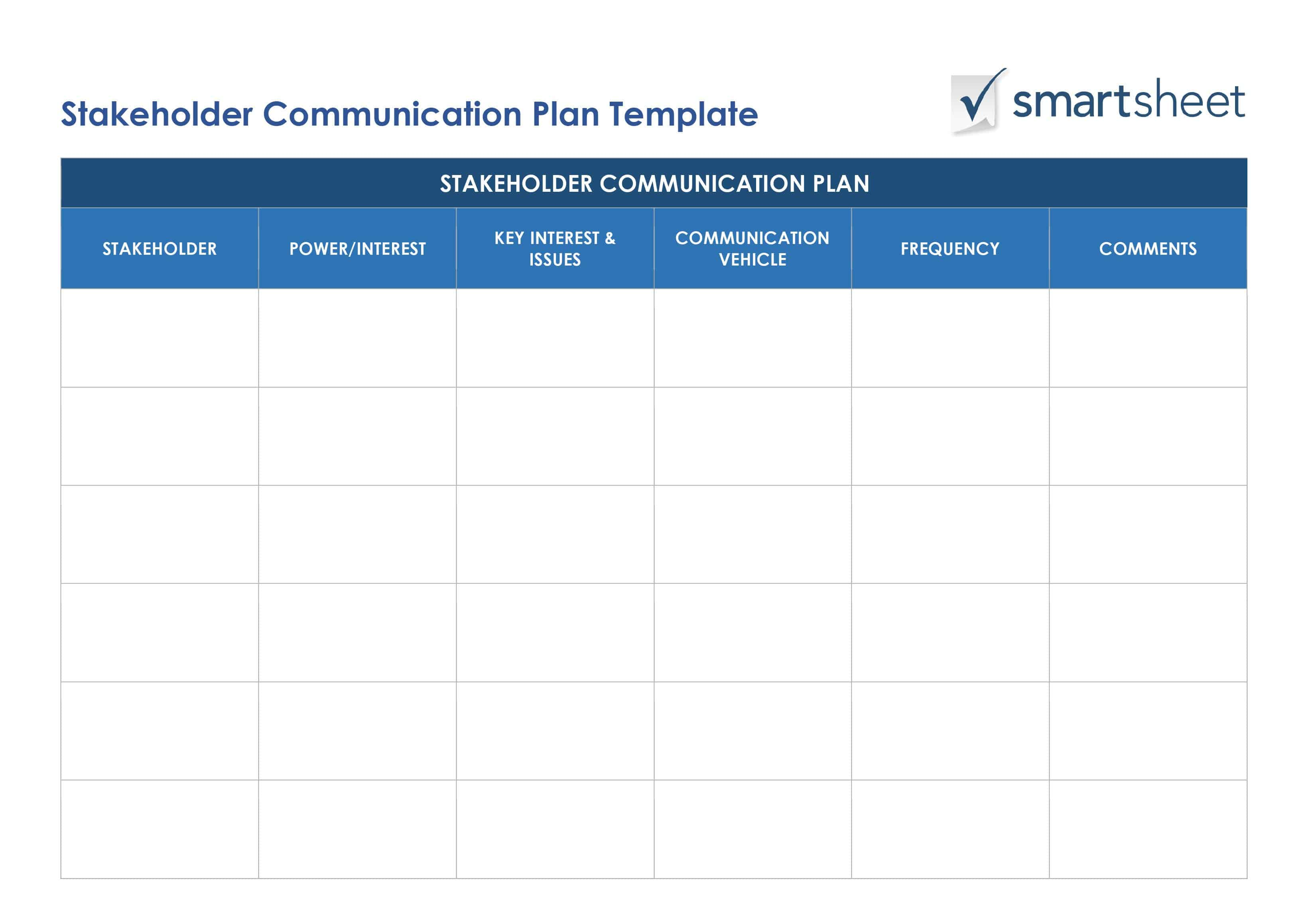 Free stakeholder analysis templates smartsheet ic stakeholder communications plan word1g maxwellsz