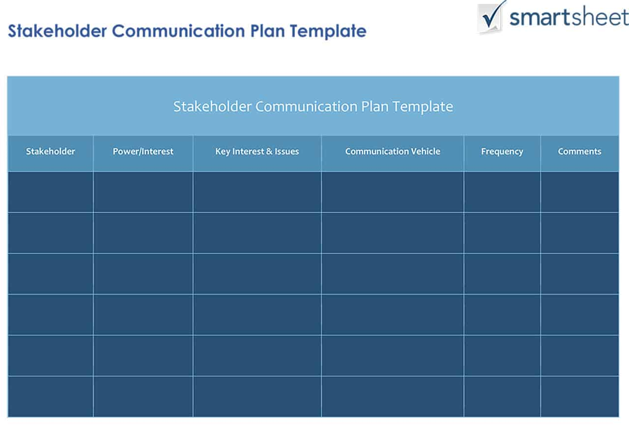 How To Create A Stakeholder Management Plan Smartsheet Types Of Electrical Plans The Project Manager Or Account Director May And Maintain But Would Likely Be Shared Among Team