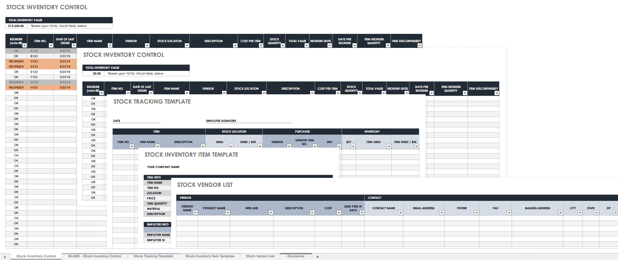 Excel Templates For Inventory Management