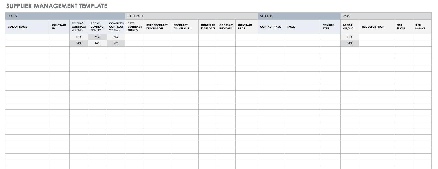 Supplier Management Template
