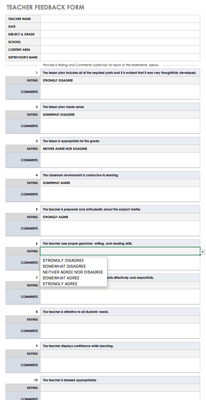 Free Feedback Form Templates  Smartsheet Intended For Word Employee Suggestion Form Template