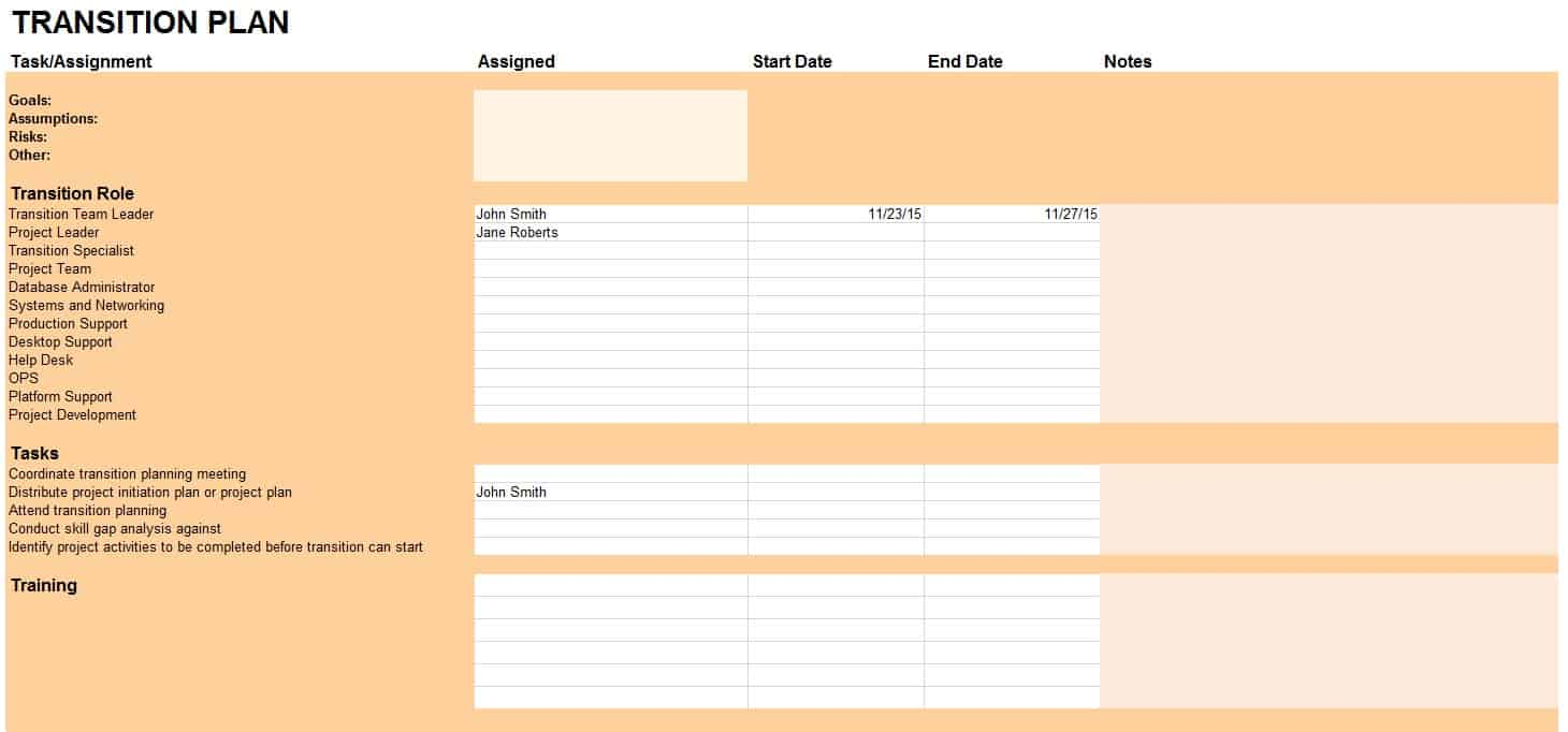 Download Transition Plan Template