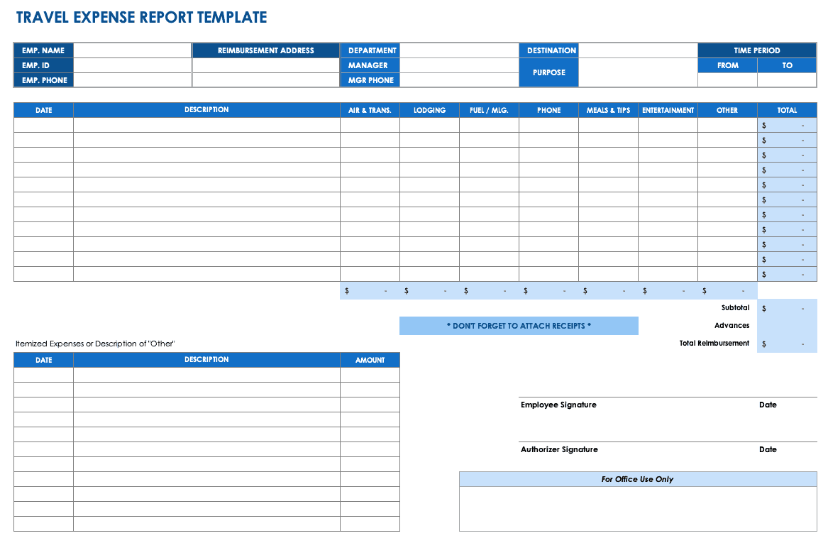 IC TravelExpenseReport Use This Detailed Travel Expense Report Template