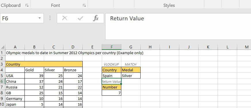 VLOOKUP and match values