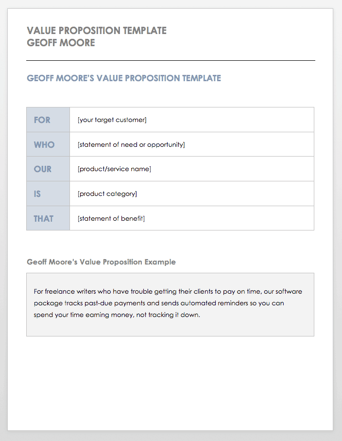 Free Value Proposition Templates | Smartsheet