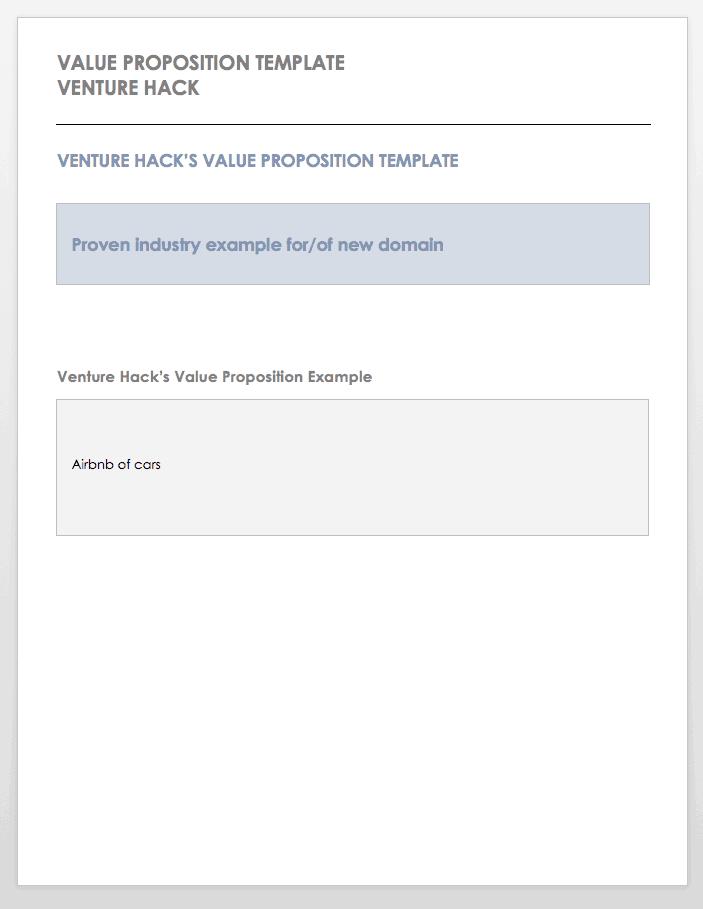 Positioning Statement Template Venture Hack