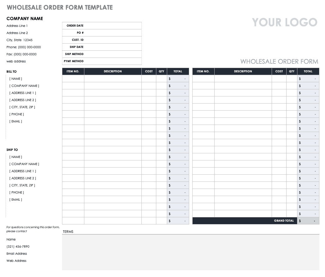 image relating to Free Order Form Template identify Totally free Obtain Variety Templates Smartsheet