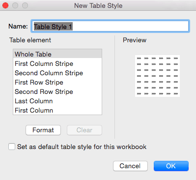 How to create a table style in Excel