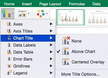 How to remove or move chart title in Excel