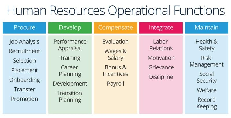 human resources operational functions