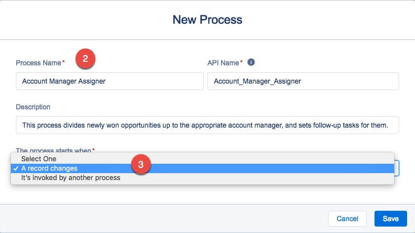 salesforce workflow new process