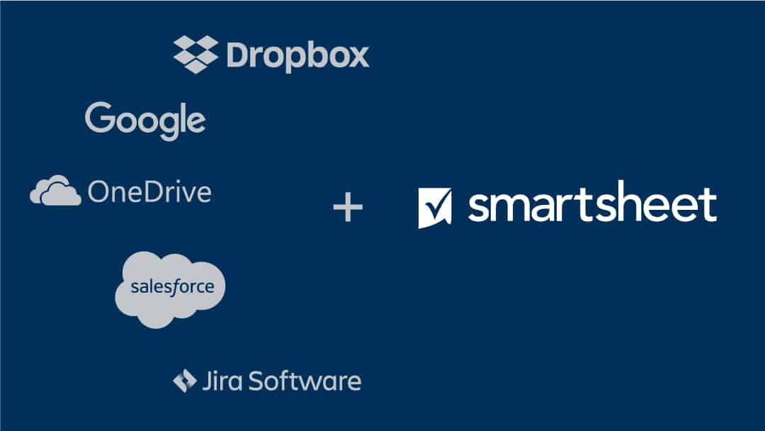 Smartsheet and integrations logos
