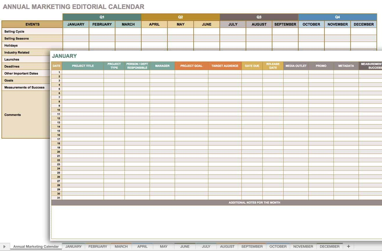 Free Marketing Timeline Tips And Templates Smartsheet - Public relations calendar template