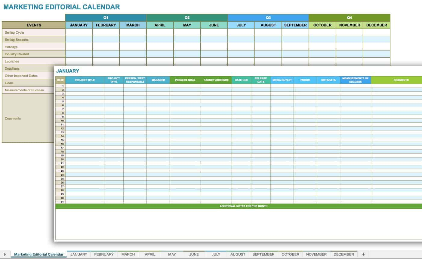 Free Social Media Templates Smartsheet - Monthly social media calendar template