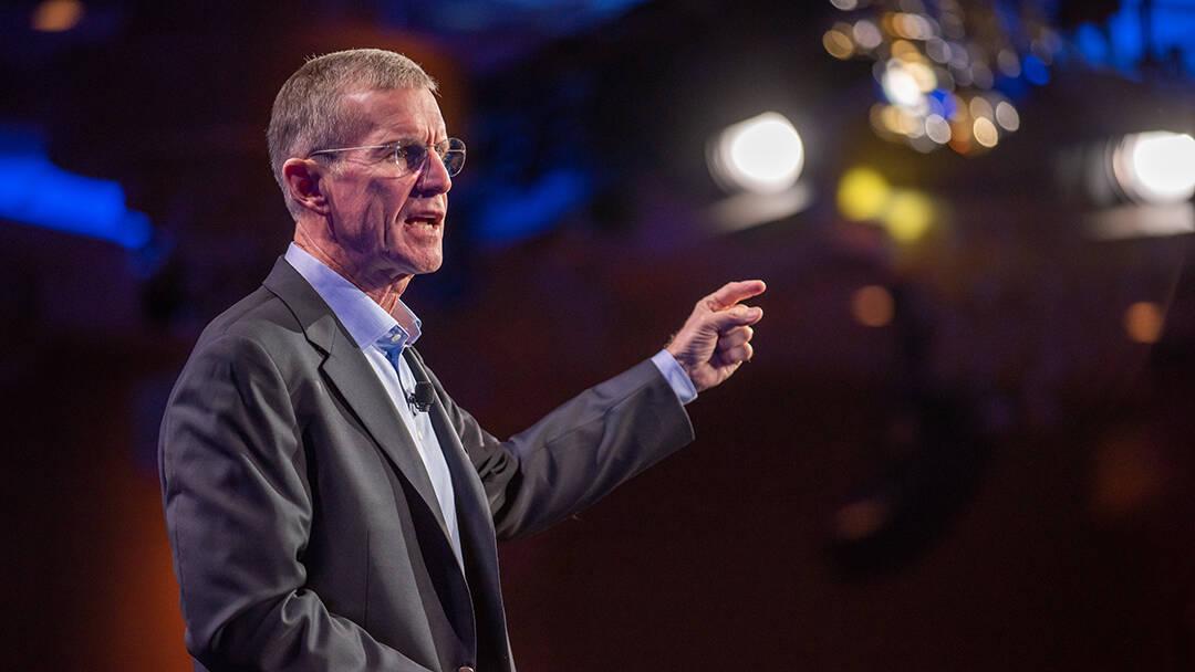 Gen. McChrystal speaking at Smartsheet ENGAGE customer conference
