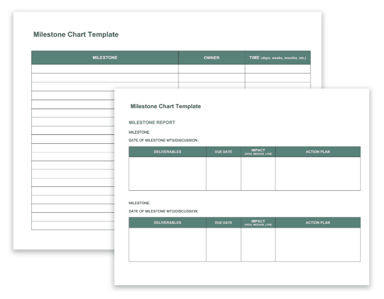 14 free program management templates smartsheet this template can be used to create a milestone chart for monitoring progress you can include this chart as part of the program plan to highlight major accmission Image collections
