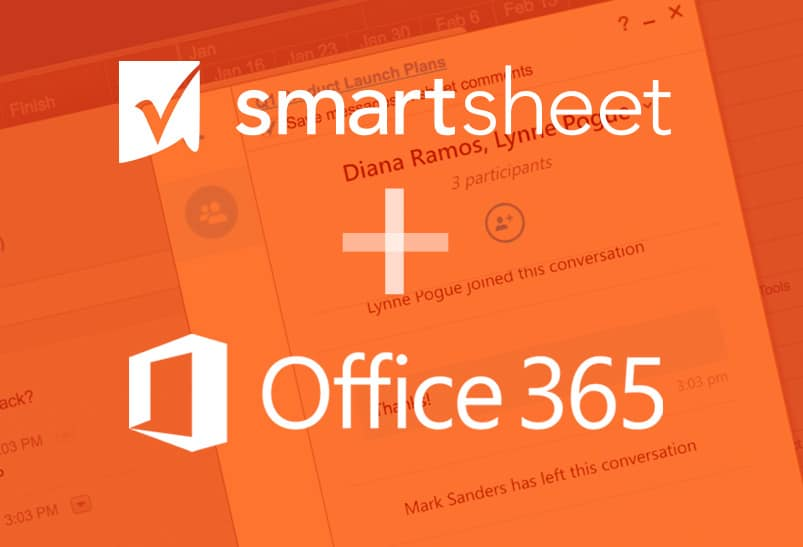 Smartsheet Integration with Microsoft Office 365 Supports