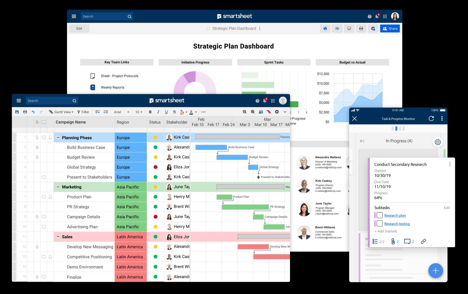 Dynamic Work & Collaboration Software | Smartsheet a Platform for Enterprise Achievement