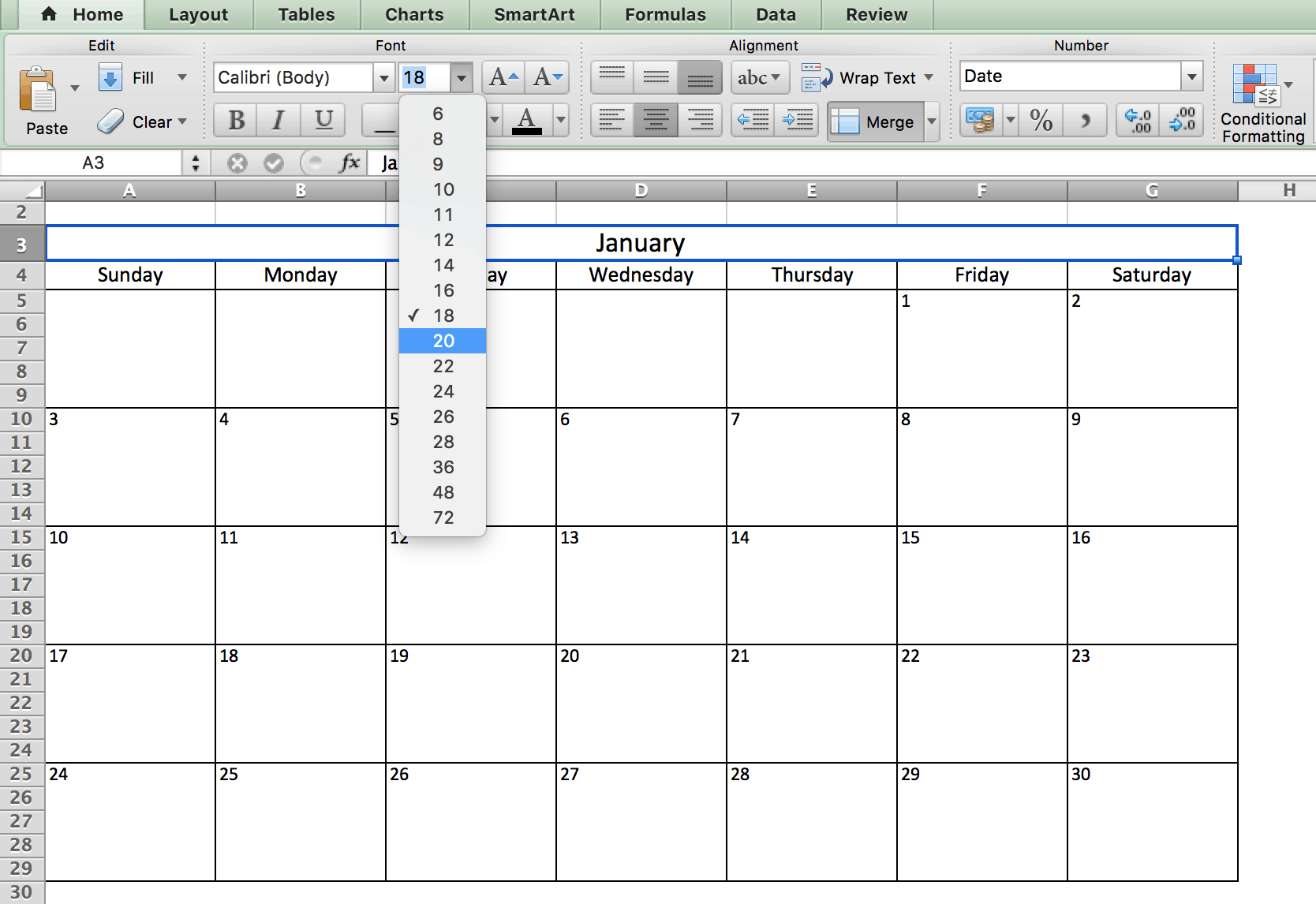 Free Printable Excel Calendar Templates For 2019 On Smartsheet