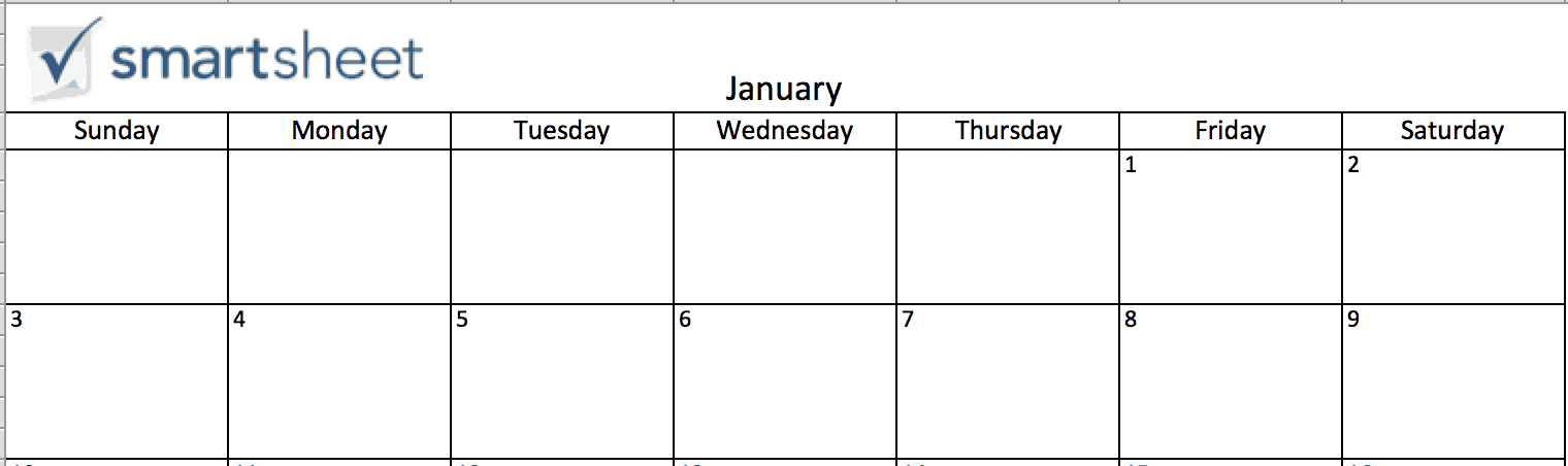 Add Picture - Calendar in Excel