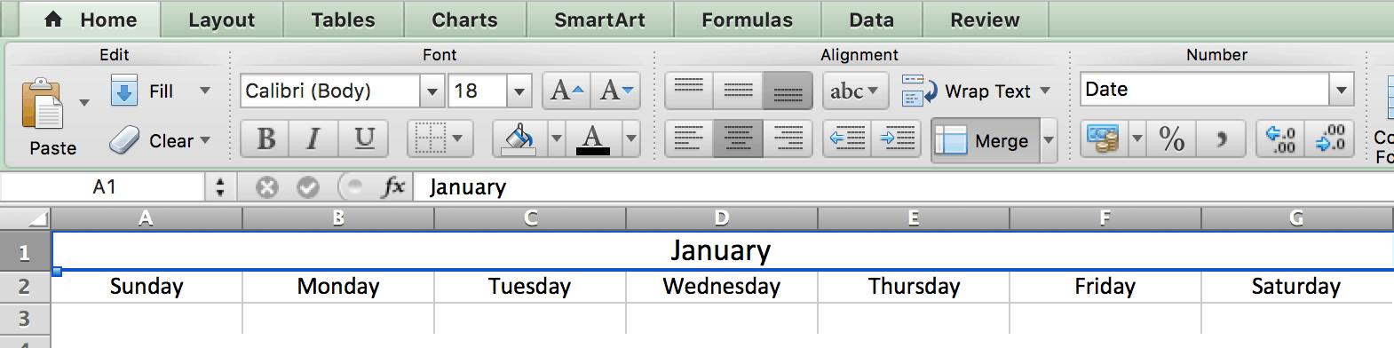 merge center calendar excelpng