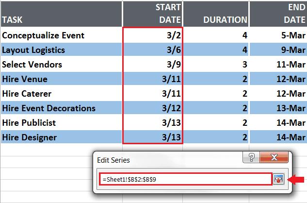 Series Data Range
