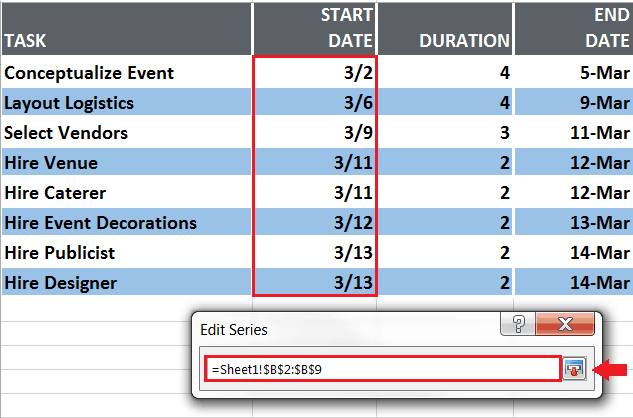 How to create a gantt chart in excel ccuart Image collections